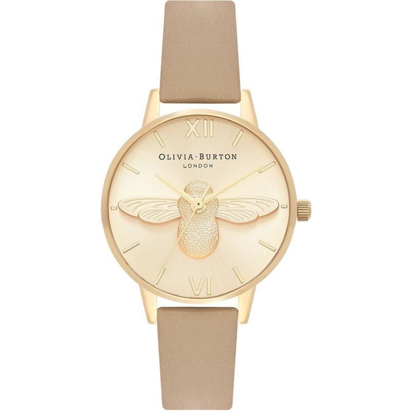 3D Bee Gold & Sand Watch