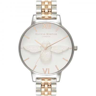 3D Bee Rose Gold & Rose Gold And Silver Bracelet Watch