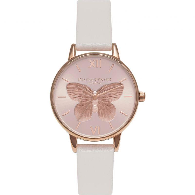 3D Butterfly Blush & Rose Gold  Watch