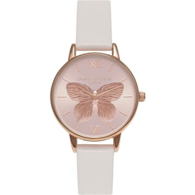3D Butterfly Blush & Rose Gold  Watch