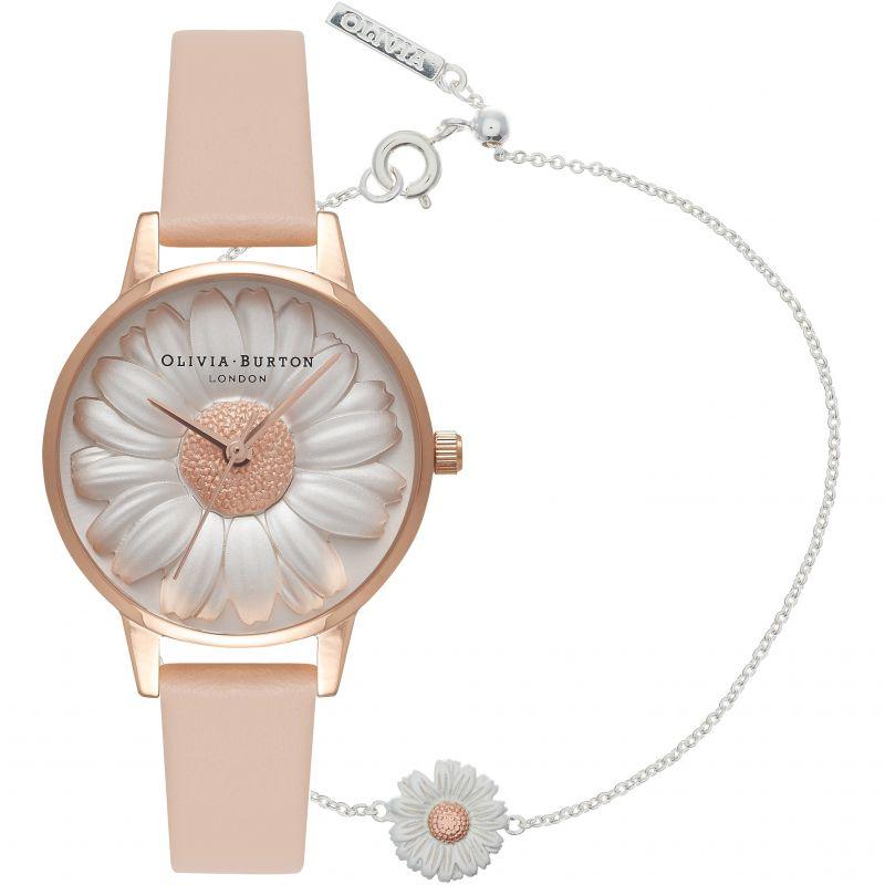 3D Daisy Watch & 3D Flower Bracelet Giftset Watch