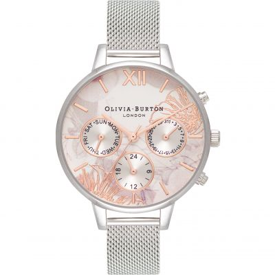 3D Daisy Rose Gold & Silver Watch