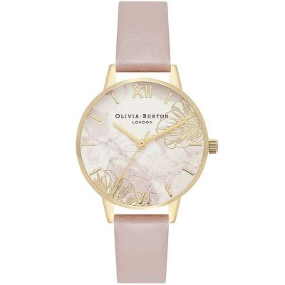 Montre Femme Olivia Burton Abstract Florals Silver & Rose Sand OB16VM31