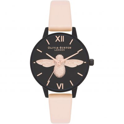 Montre Femme Olivia Burton After Dark Ip Black And Rose Gold & Nude Peach OB16AD40