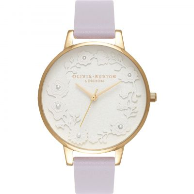 Artisan Dial White Pearl Rose Gold & Parma Violet Watch