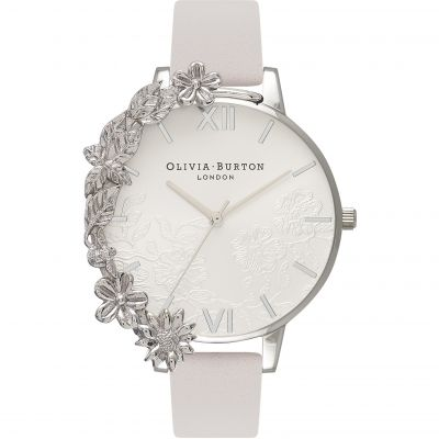 Case Cuffs Silver Lace & Blush Watch