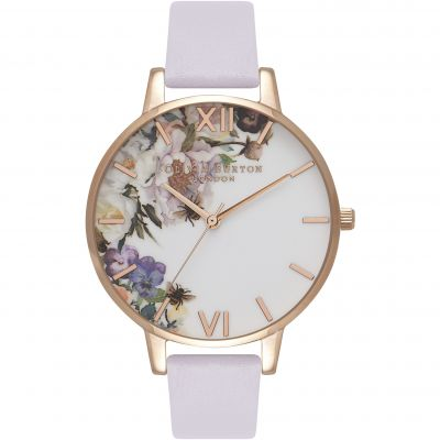 Enchanted Garden Parma Violet & Rose Gold Watch
