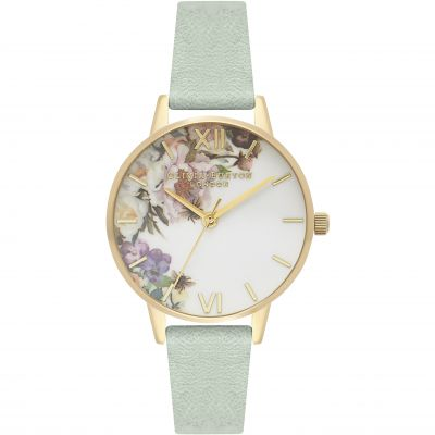 Enchanted Garden Sage & Gold Watch