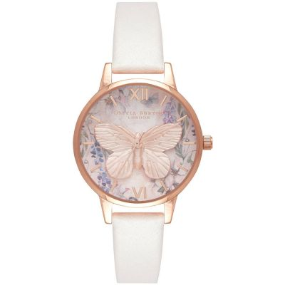 Glasshouse Butterfly Vegan Blush & Rose Gold Watch