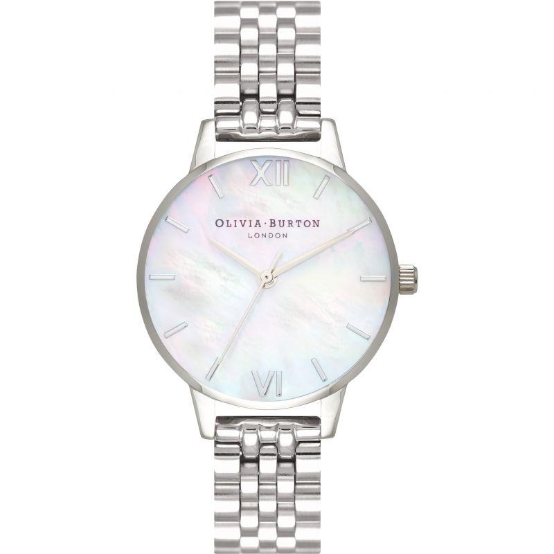 Mother Of Pearl Bracelet Silver Watch