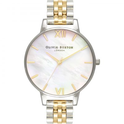 Montre Femme Olivia Burton Mother Of Pearl Bracelet Rose Gold & Gold And Silver OB16MOP05