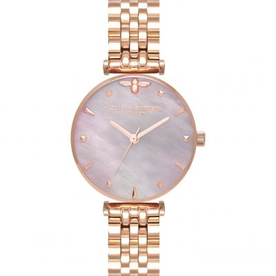 Queen Bee Mother Of Pearl Rose Gold Bracelet Watch