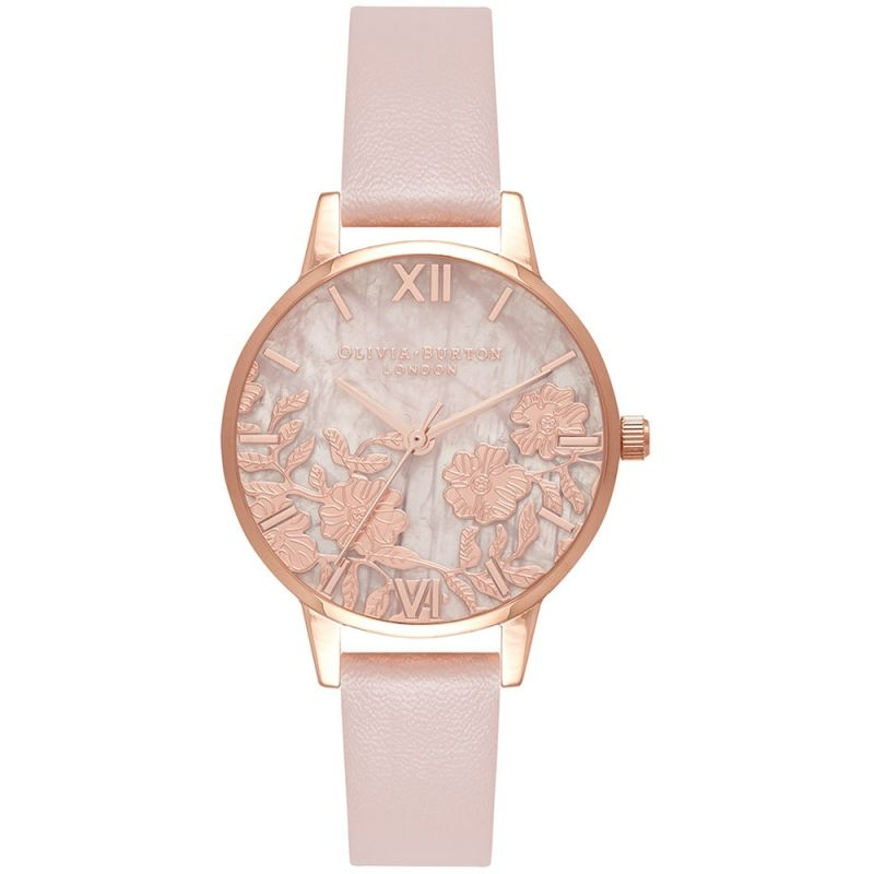 Semi Precious Rose Gold Lace & Vegan Rose Sand Watch
