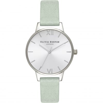 Sunray Dial Silver & Sage Watch