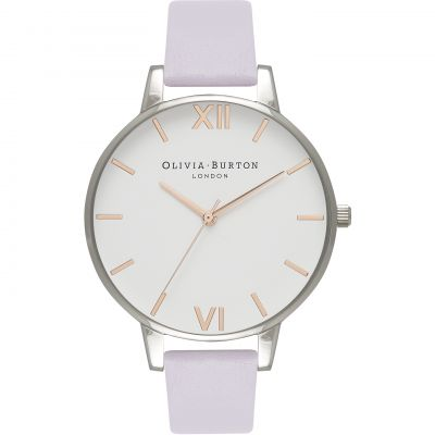 White Dial White & Parma Violet Watch