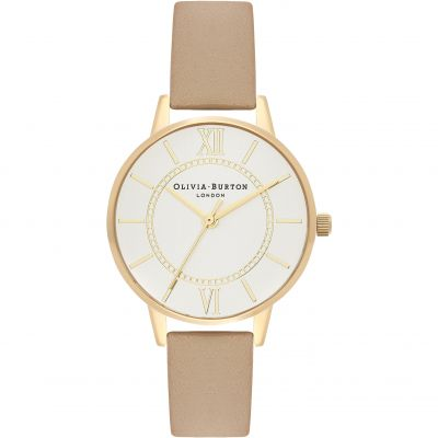 Wonderland  Gold  & Sand Watch