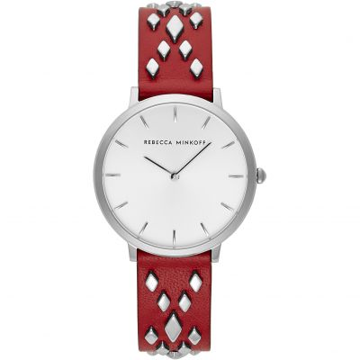 Rebecca Minkoff Major Damenuhr in Rot 2200263