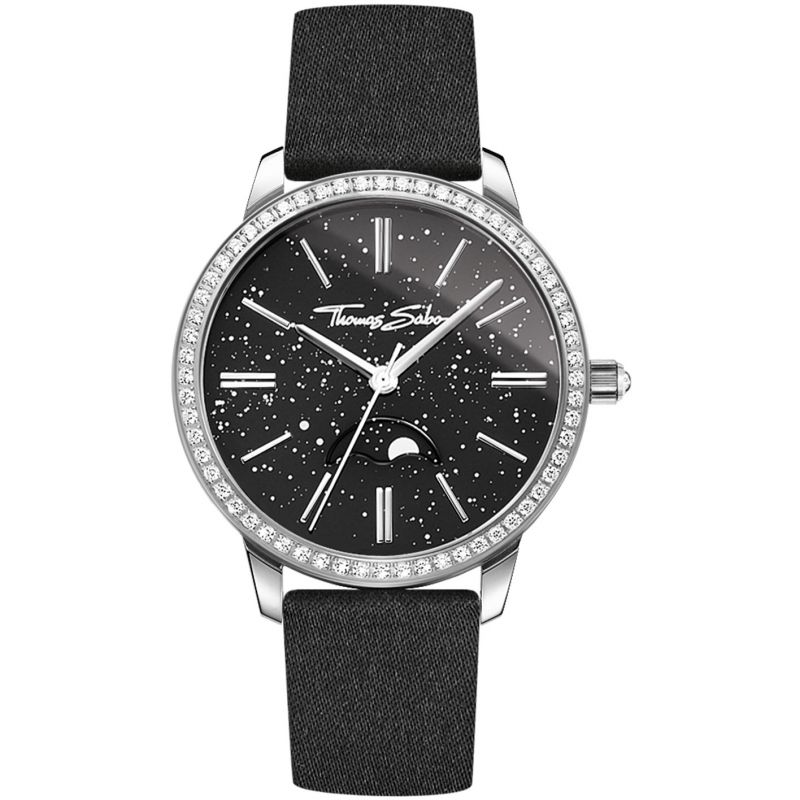 Moonphase Movement Black Women's Watch