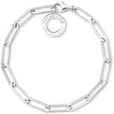 Ladies Thomas Sabo Sterling Silver Charm Club Bracelet X0259-001-21-L17