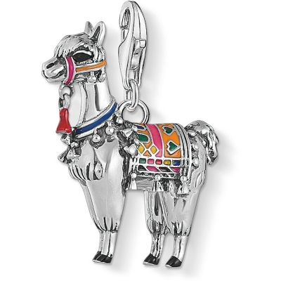 Ladies Thomas Sabo Sterling Silver Charm Club Lama Charm 1694-664-7