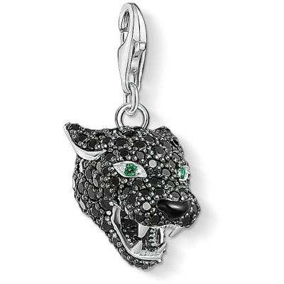 Ladies Thomas Sabo Sterling Silver Charm Club Panther Charm 1696-845-11