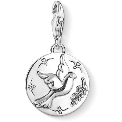 Ladies Thomas Sabo Sterling Silver Charm Club Dove Charm 1701-637-21