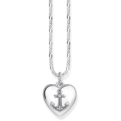 Ladies Thomas Sabo Sterling Silver Glam & Soul Anchor Locket Necklace KE0039-356-14-L45v