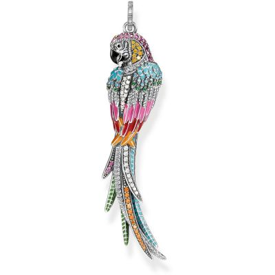 Ladies Thomas Sabo Sterling Silver Glam & Soul Parrot Pendant PE802-340-7