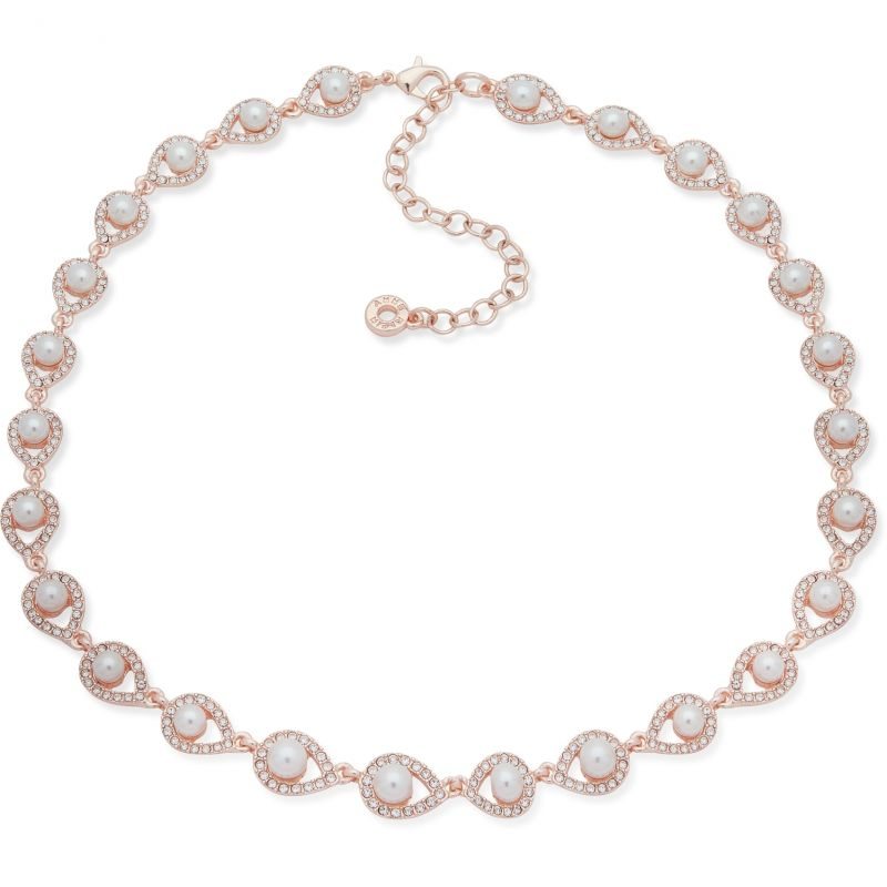 Anne Klein Jewellery 16in Pave Necklace
