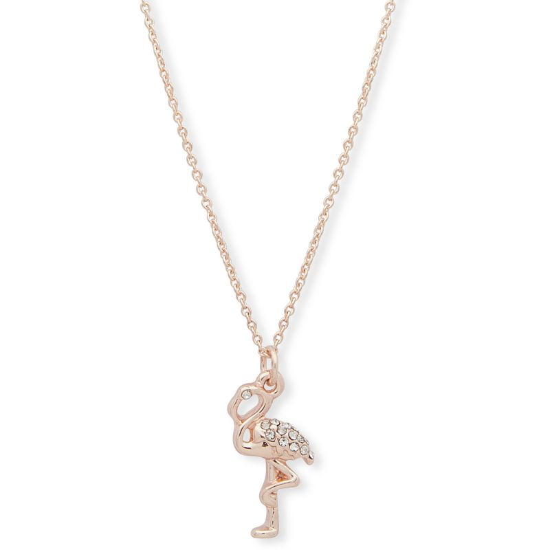 Anne Klein Jewellery 16in Flamingo Necklace
