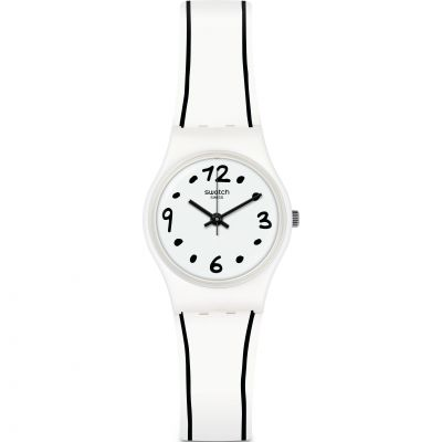 Swatch Originals Lady Black Border Damenuhr LW162