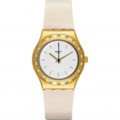 Swatch Deep Wonder Linusa Damenuhr in Beige YLG137