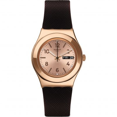 Swatch Irony Medium Brownee Unisexuhr YLG701