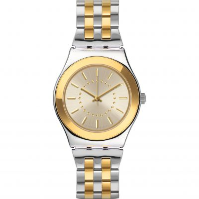 Swatch Irony Medium Goldensilver Unisexuhr YLS207G