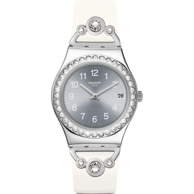 Swatch Irony Medium Pretty In White Damenuhr YLS463