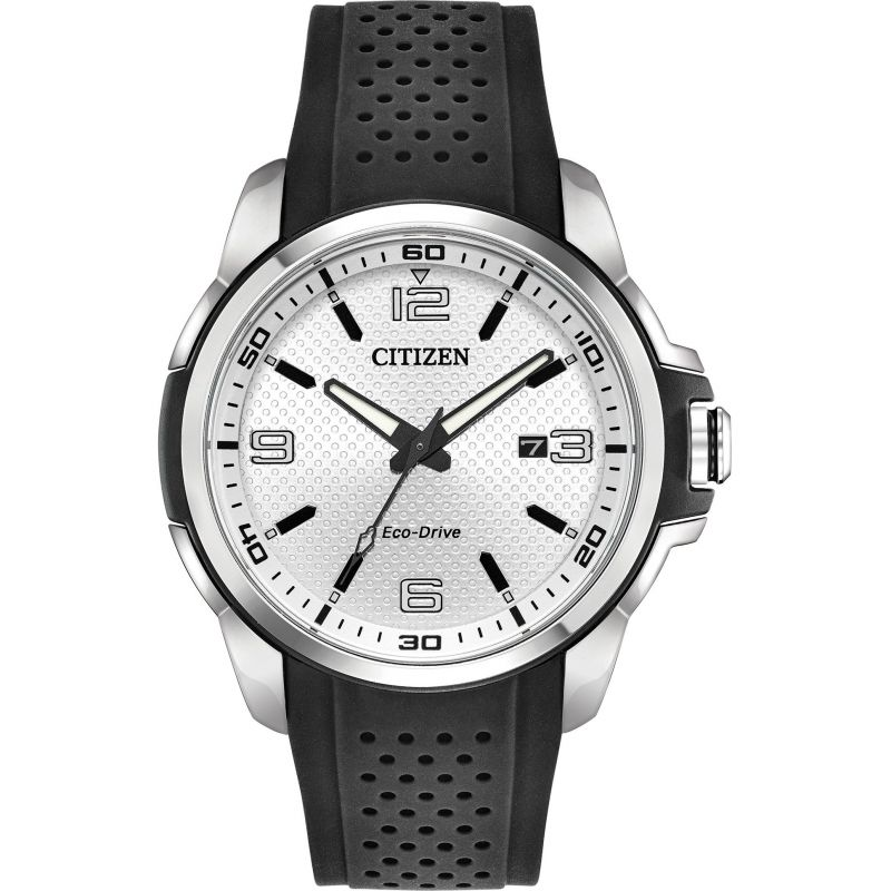 Mens Citizen Eco-drive Gents Sports Strap Stainless Steel Watch AW1150-07A