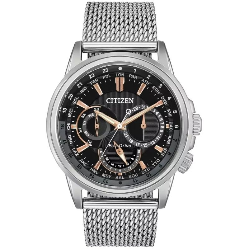 Mens Citizen Eco-drive Gents Sport Stainless Steel Watch BU2020-70E