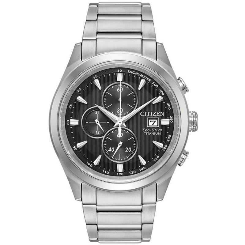Mens Citizen Eco-drive Gents Titanium Chronograph Titanium Watch CA0650-58E