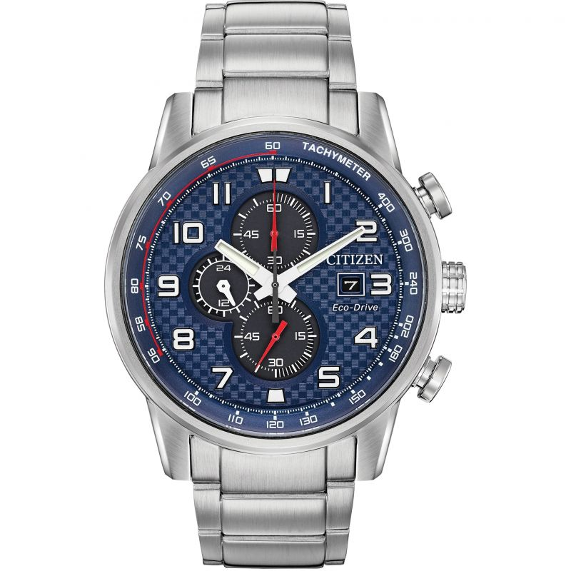 Mens Citizen Eco-drive Primo Chronograph Chronograph Stainless Steel Watch CA0680-57L