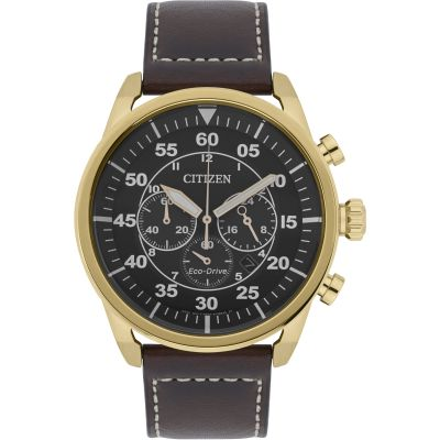 Citizen Herrenchronograph in Braun CA4213-00E
