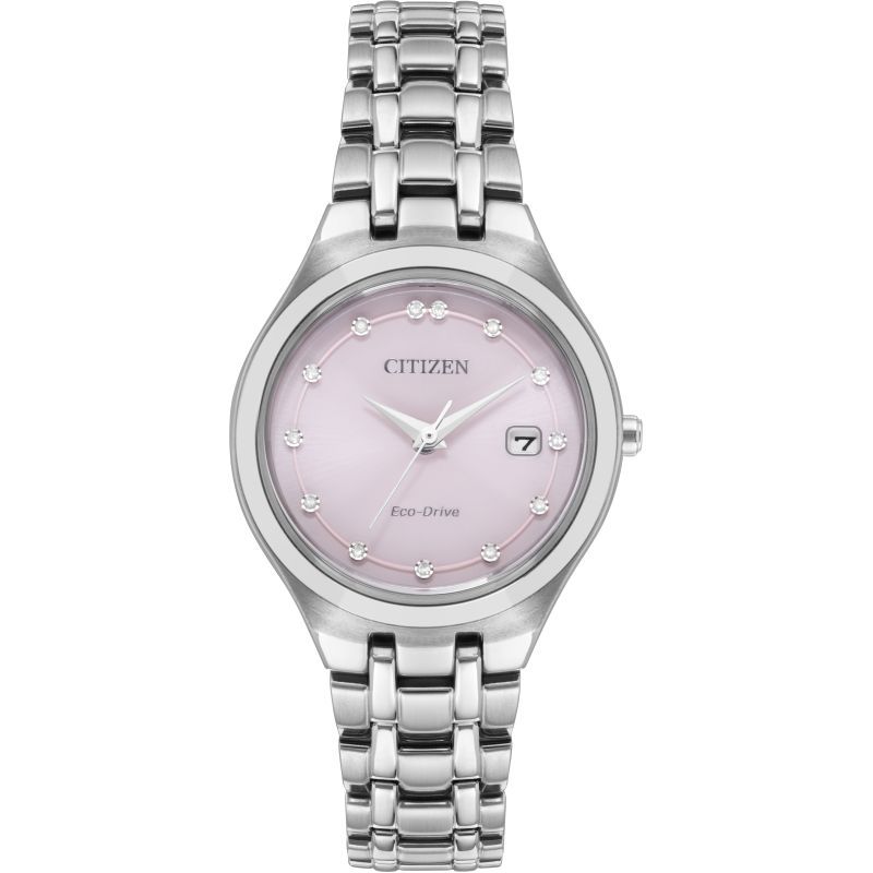 Ladies Citizen Eco-drive Ladies Diamond Stainless Steel Watch EW2480-59X