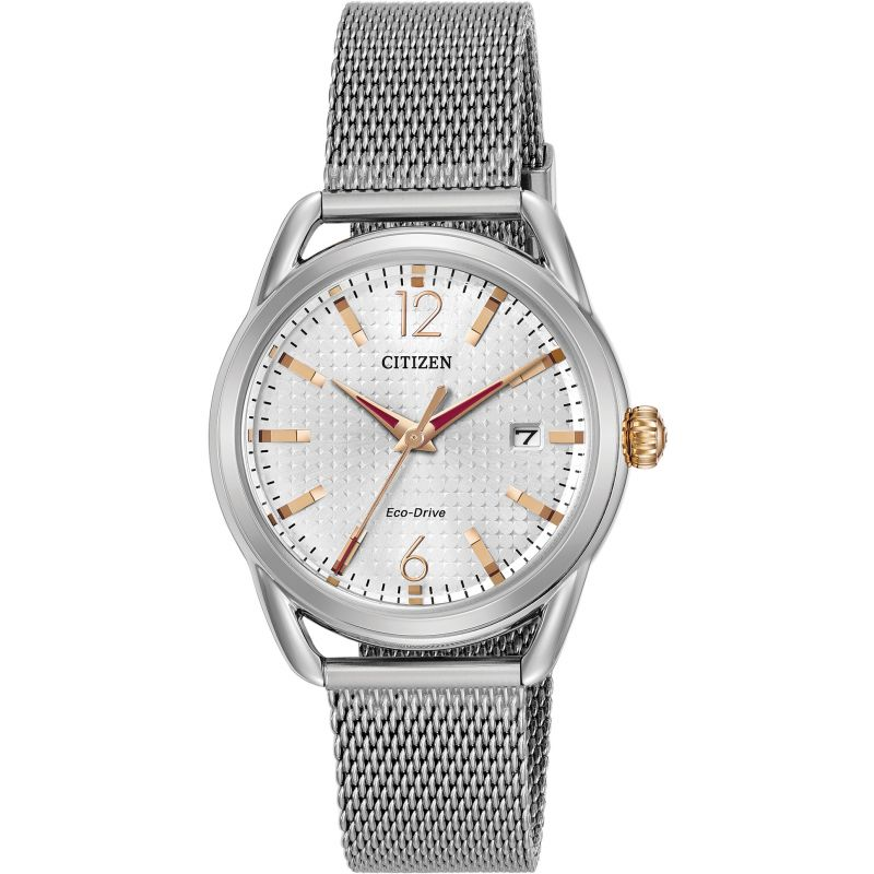 Ladies Citizen Eco-drive Silhouette Stainless Steel Watch FE6081-51A