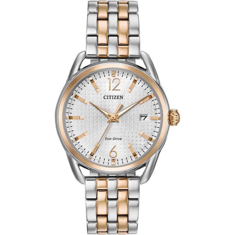 Ladies Citizen Eco-drive Silhouette Stainless Steel Watch FE6086-74A
