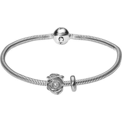 Ladies Christina Sterling Silver 18cm Bracelet With Charm 601-18S