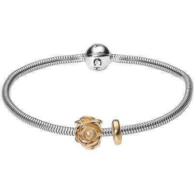 Ladies Christina Sterling Silver 18cm Bracelet With Charm 601-18G