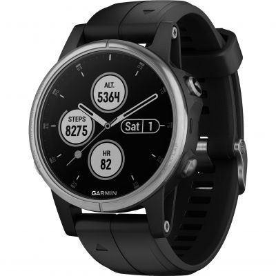 Garmin fēnix® 5S Plus, Silver with Black Band