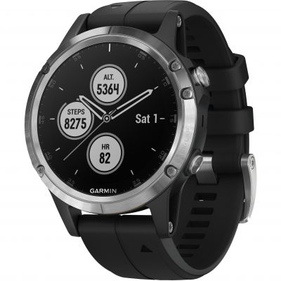Garmin fēnix® 5 Plus, Silver with Black Band