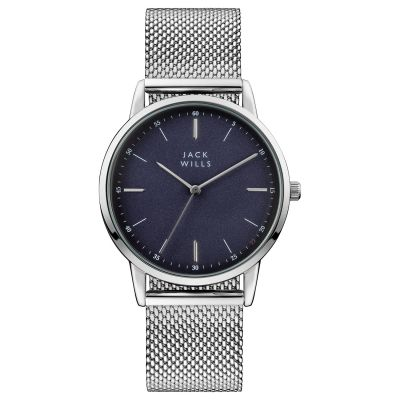 Jack Wills Fortescue Herrklocka Stainless Steel JW011SSBL