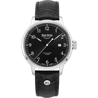 Mens Bruno Sohnle Hamburg Auto Big Automatic Watch 17-12203-721