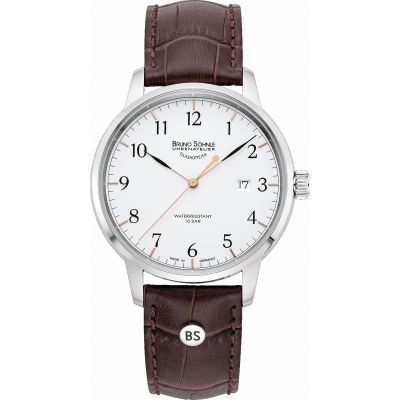 Mens Bruno Sohnle Hamburg I Big Watch 17-13201-221